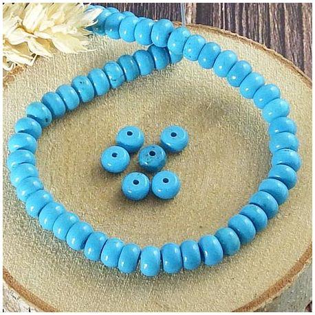 20 perles en turquoise sinkiang naturelle