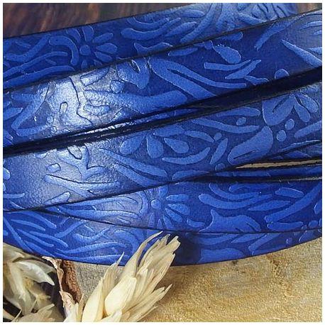 Cuir plat 10mm bleu gitane grave jardin