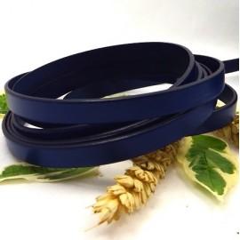 Cuir plat 10mm bleu dur en gros