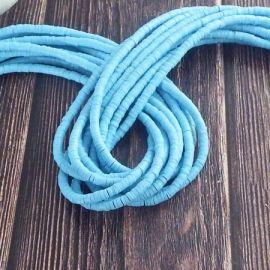 Perles Heishi 3mm bleu ciel 36