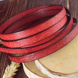 Cuir plat 10mm rouge grave jardin