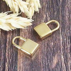 Pendentif cadenas acier inoxydable or 18mm