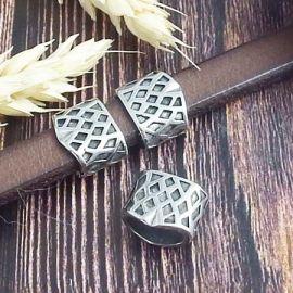 Passant Arlequin acier inoxydable pour cuir 10x5mm