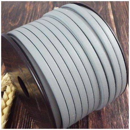 Cuir plat 5mm pastel gris