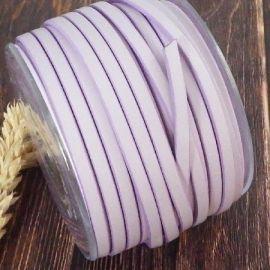 Cuir plat 5mm mauve pastel