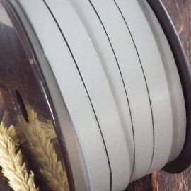 Cuir plat 10mm gris pastel