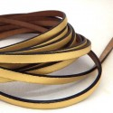 cuir plat 5mm or mat