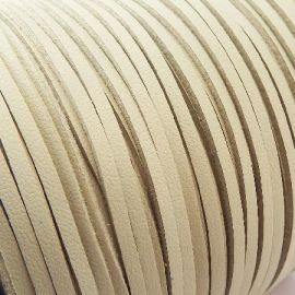 Cordon suédine effet cuir lisse sable 3mm