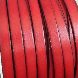 Cuir plat 10mm rouge