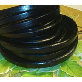 Cuir ovale regaliz noir