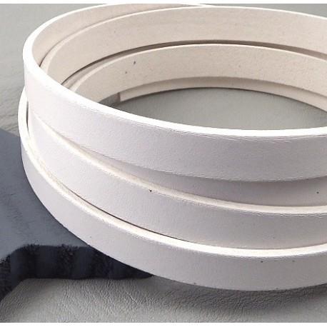 cuir plat 10mm blanc par 2 mètres