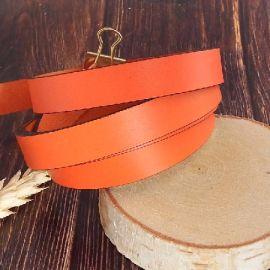 Cuir plat 15mm orange