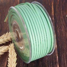 Cuir plat 3mm menthe pastel