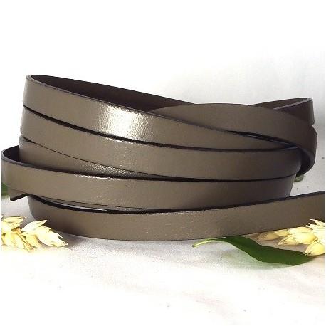 cuir plat 10mm taupe par 2 mètres