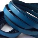cuir plat 10mm bleu outremer en gros