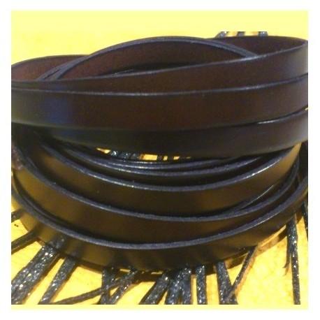 cuir plat 10mm marron fonce en gros