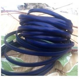 Cuir plat 5mm bleu electrique
