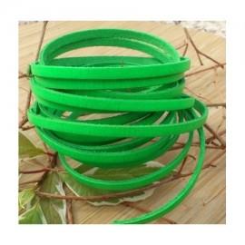 Cuir plat 5mm vert fluo en gros