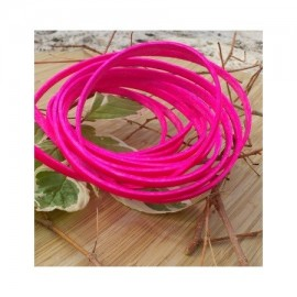 Cuir plat 5mm rose fluo