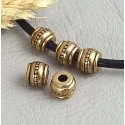 Perles en métal bronze