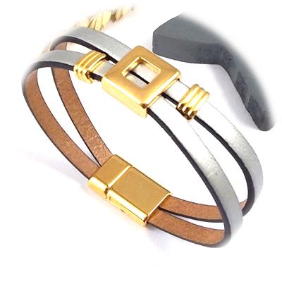 tutoriels pour fabriquer des bracelets en cuir. Black Bedroom Furniture Sets. Home Design Ideas