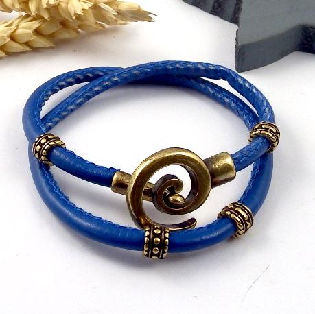 Fermoir spirale bronze