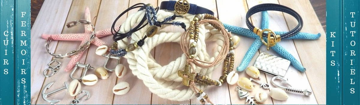 Cuirs couleurs, fermoirs, passants pour bracelets cuir