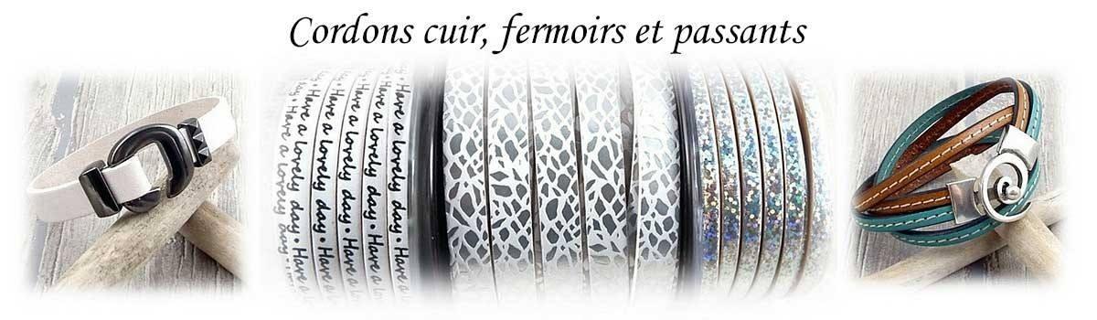 Cordons cuir pour bijoux toutes dimensions