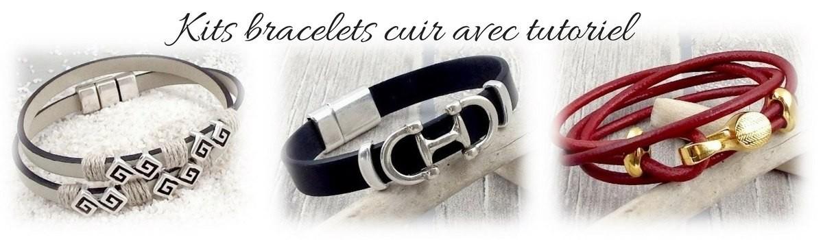 Kits diy bracelets cuir