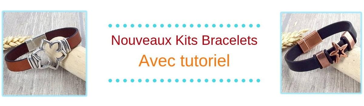 Nouveaux kits tutoriels bracelets cuir
